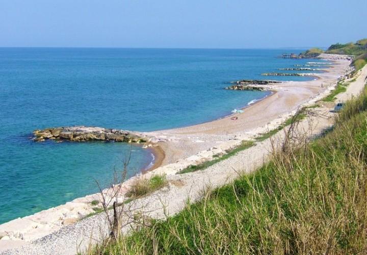 La spiaggia della Foce a Rocca San Giovannni